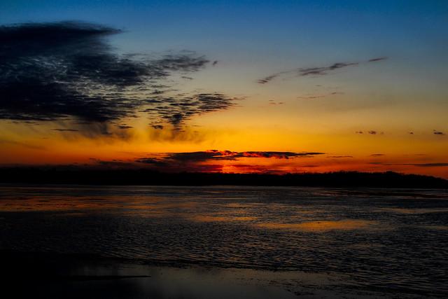 Sunset over Montezuma Wildlife Refuge