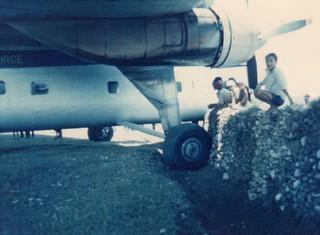 1969 RNZAF Bristol Freighter NZ5906 stuck in a ditch at Pokara, Nepal