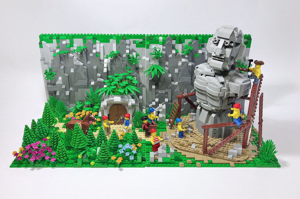 Forest sculptor (custom built Lego model)