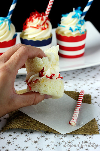 Patriotic Piña Colada Cupcakes http://beyondfrosting.wordpress.com