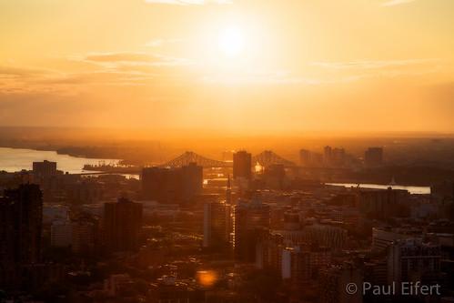 city bridge summer sky sun canada clouds sunrise river montreal cityscapes solstice sunrays sunbeams