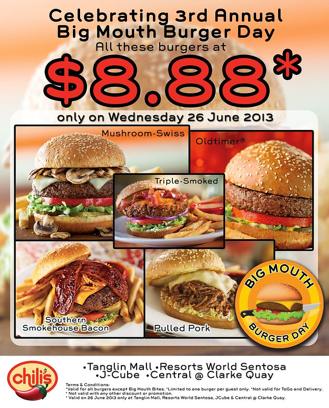 Chili's 'Big Mouth Burger Day'  and 'Burger Week Special' - Alvinology