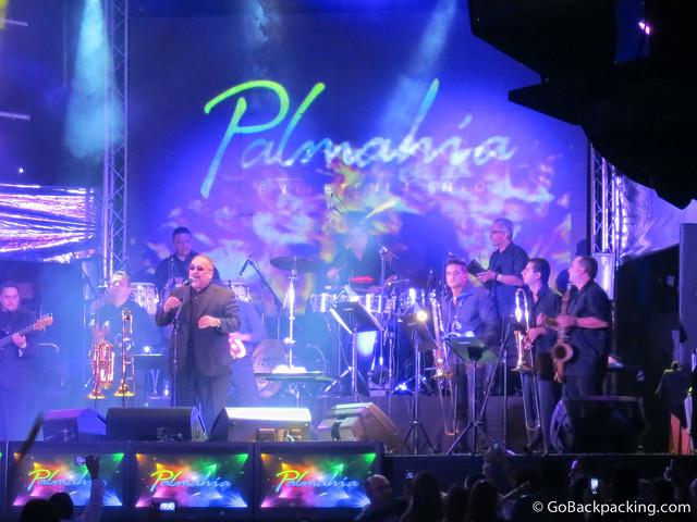 Willie Colon takes the stage at Palmahia Discoteca