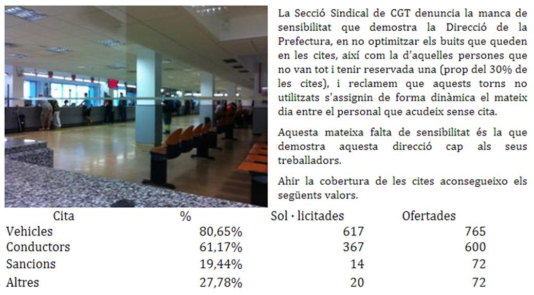 dades seguiment vaga DGT a Barcelona 10è dia vaga indefinida parcial