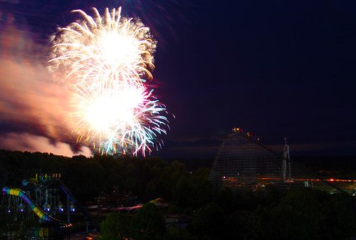 Fireworks over Bakuli