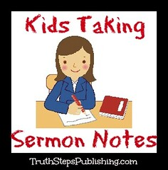 Kids Taking Sermon Notes