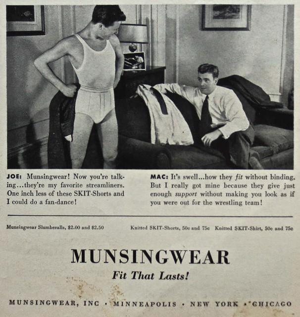 Vintage Advertisement: 1940s Mens Munsingwear Briefs (Detail)