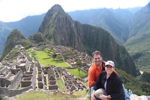 Dianna and Rahn on top of Machu Pichu.  Gonesomewhere.com