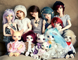 Dolly Family: All my BJDs