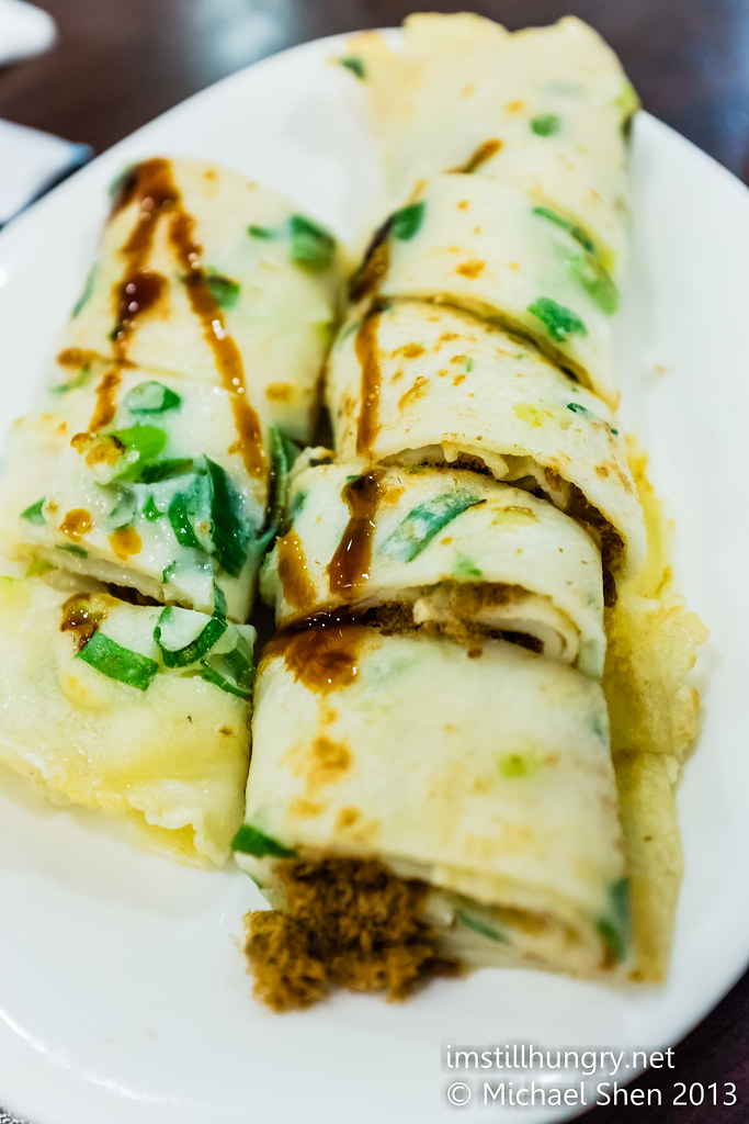 egg pancake with pork floss new shanghai
