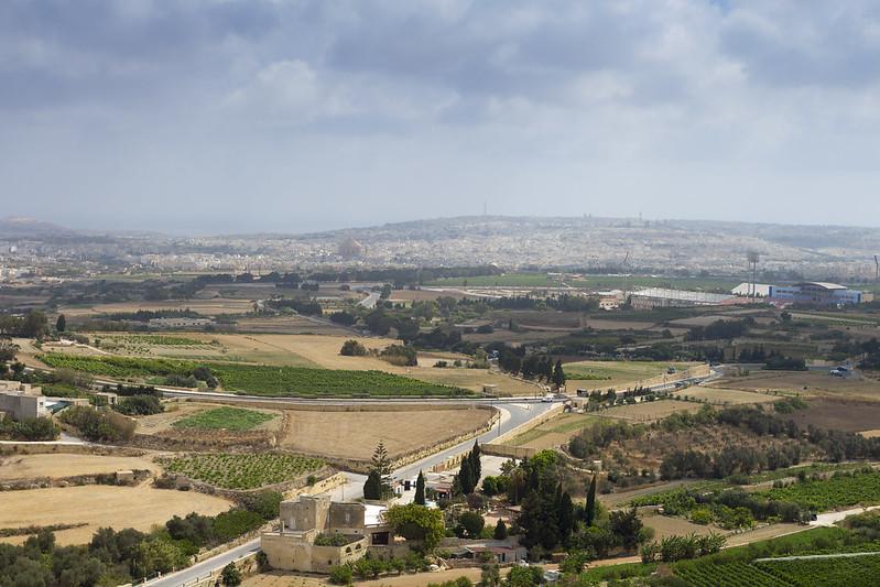 Malta Landscape from Mdina