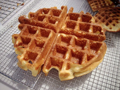 Malted Waffle batter with pearl sugar