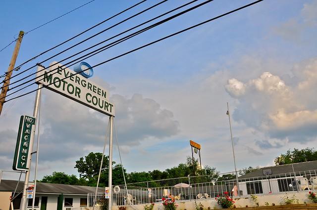 Evergreen Motor Court Sign Bristol VA