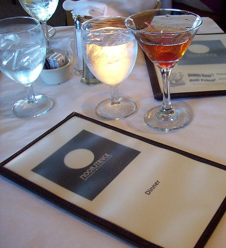 moonstruck restaurant menu with cocktail