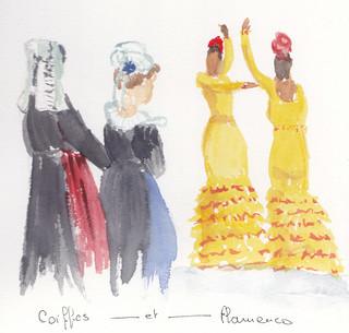 Coiffes et Flamenco