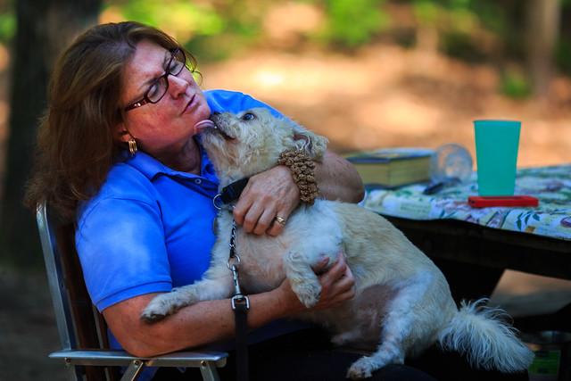 Oscar Gives His Mommy a Kiss