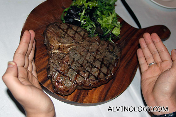 Stockyard Angus Porterhouse Steak (S$135) - 800gm porterhouse, grilled the way you like, enough for 2 to 3 pax