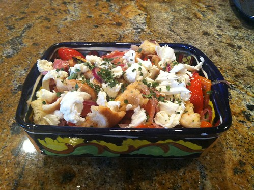 Roasted Pepper Panzanella Amy