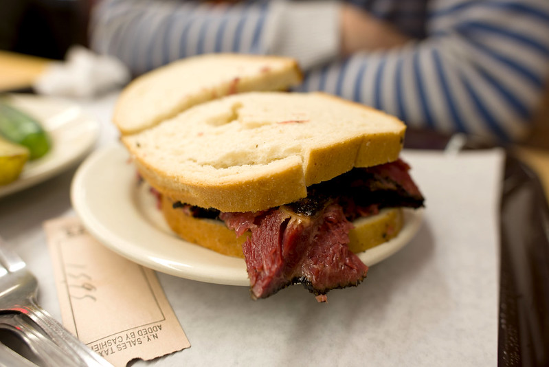 Pastrami sandwich at Katz Deli