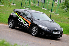 automobile, automotive exterior, wheel, vehicle, automotive design, honda, honda cr-z, bumper, land vehicle, sports car,