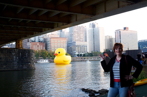 Mel C. and the Duck.
