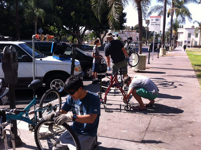 bicycle repairs for the less fortunate