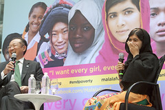 Malala Yousafzai speaks at World Bank headquarters on the International Day of the Girl