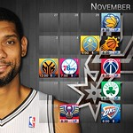 2013 2014 Spurs Schedule November Duncan