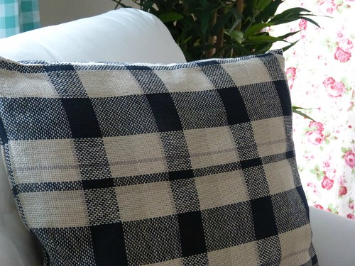 ikea plaid pillow