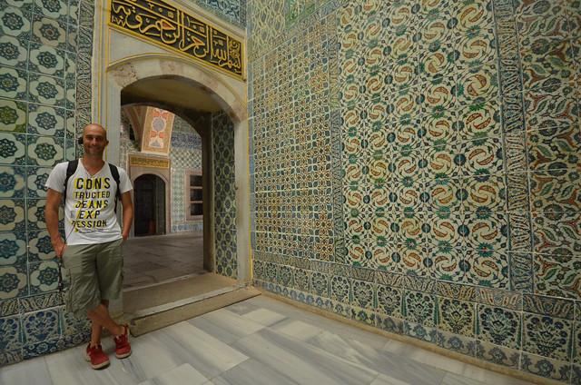 Manolito en el palacio Topkapi
