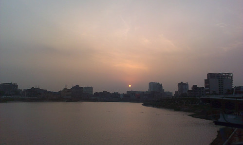 sunset sun lake nature all about dhaka bangladesh hatirjheel