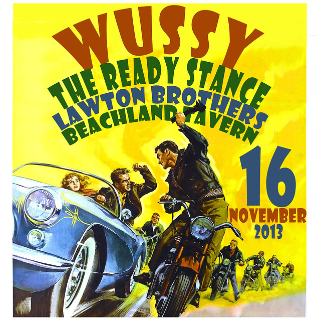 Wussy, the Ready Stance and the Lawton Brothers. Beachland Tavern, Cleveland, 16-Nov-13.