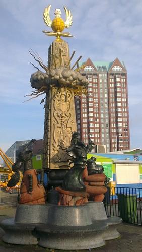 Strange Statues, Rotterdam (451x800) by clairehawkridge