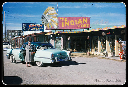 The Indian Store & Westerner Court - Arizona 1950's