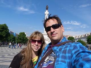 Sele y Rebeca en Lisboa