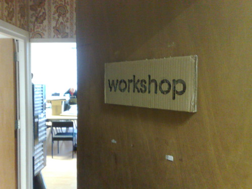 Workshop Sign in place