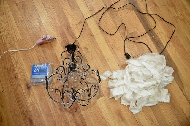How to Hang a Chandelier For Renters – Mini Plug in Chandelier