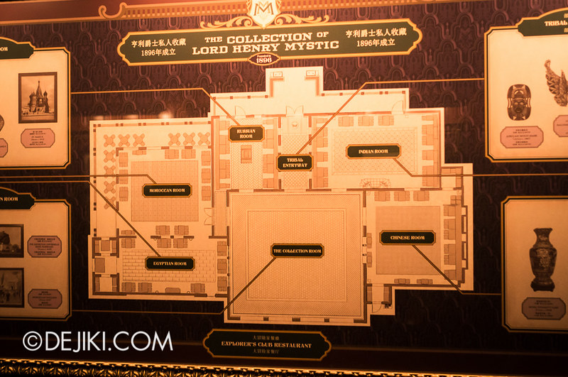 Mystic Manor - Explorer's Club layout