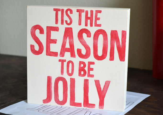 Tis the Season to be Jolly Wooden Sign DIY - 20 Crafty Days of Christmas