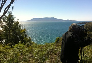 ABC cameraman captures the view of Maria Island, Tasmania