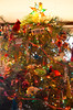 Love our messy colorful tree...all our ornaments are either handmade or sentimental...