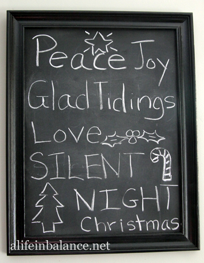 Christmas 2013 House Tour: DIY Chalkboard