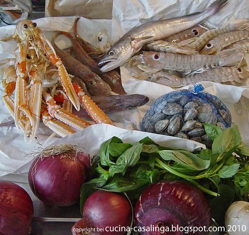 Fischsuppe Einkaeufe