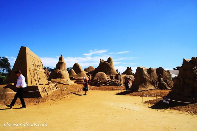 frankston sand sculpting scenery
