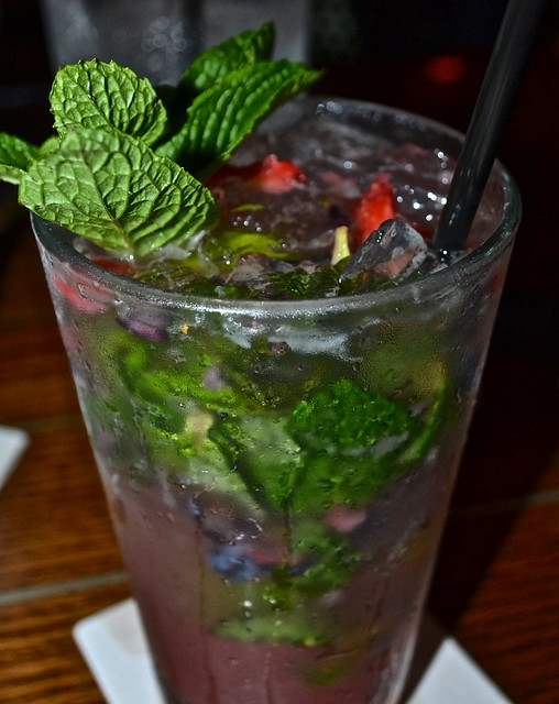JB's on the Beach restaurant, Deerfield Beach, Florida - berry mojito