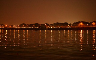 Image of  tank. hyderabad tankbund hussainsagar