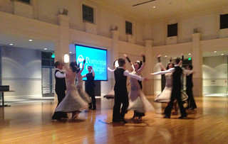 The Claremont Colleges Ballroom Dance Company performed their Great Gatsby montage for staff and faculty before they headed to the national competition in November