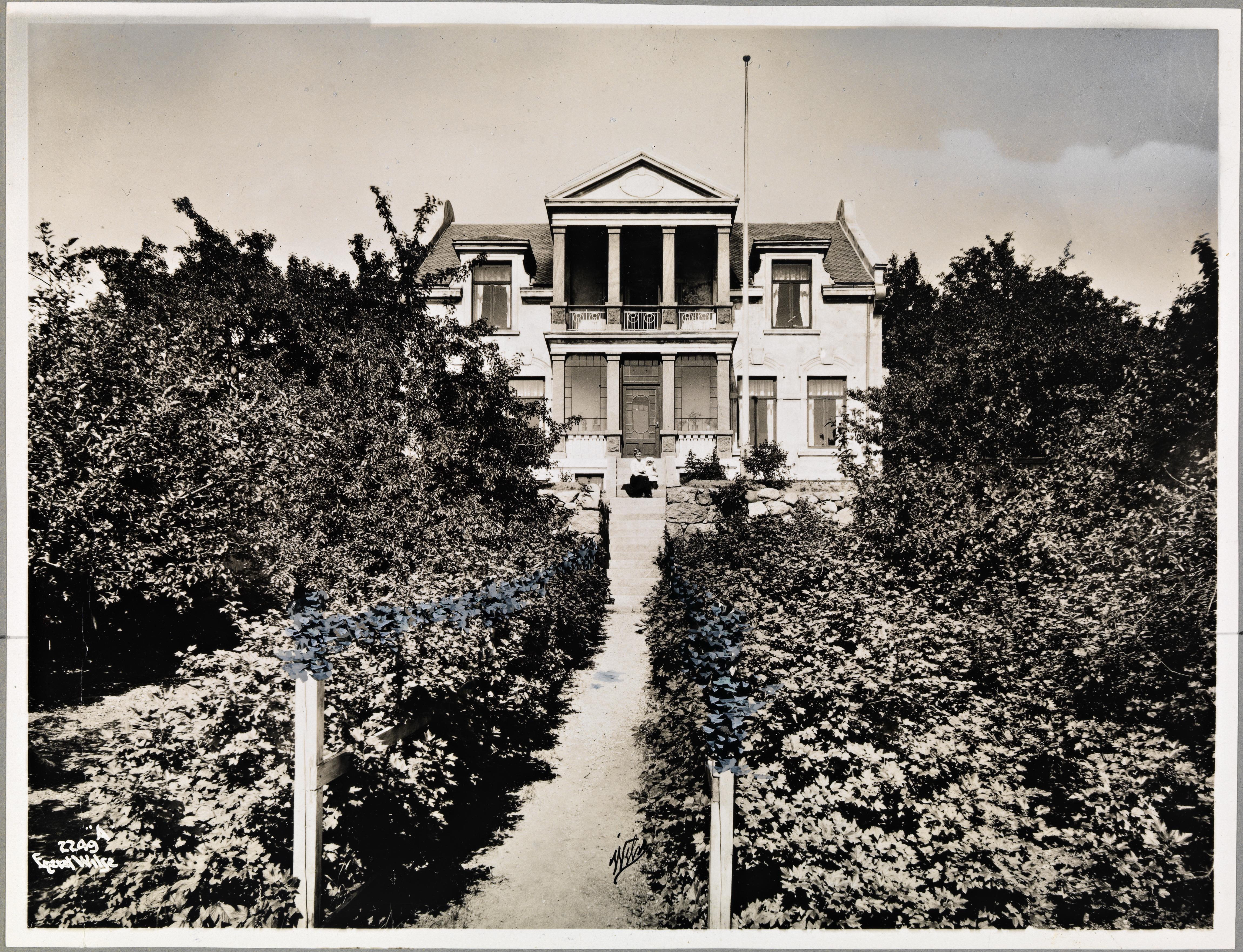 Villa Havgløtt, Larvik, juli 1917