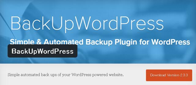BackUpWordPress(バックアップワードプレス)