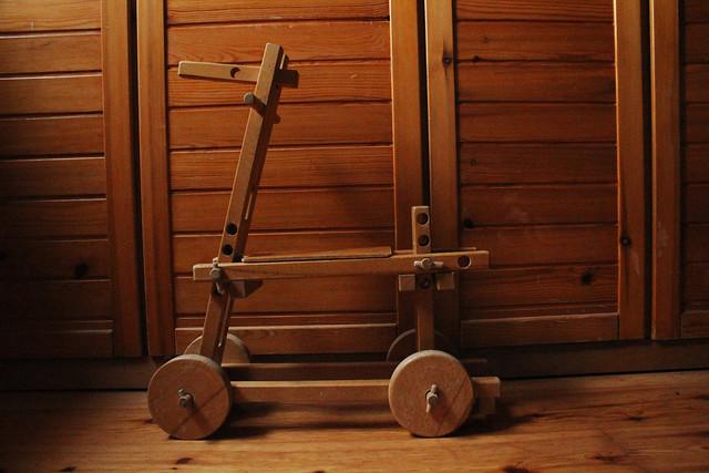 vintage rebuildable horse toy